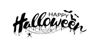 Gelukkige Halloween-Tekstbanner, vector Royalty-vrije Stock Afbeeldingen