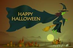 Gelukkige Halloween-vakantieachtergrond Royalty-vrije Stock Foto