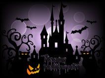 Gelukkige Halloween-Vector Als achtergrond Royalty-vrije Stock Fotografie