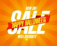 Gelukkige Halloween-verkoop, het ontwerp van de Webbanner royalty-vrije illustratie