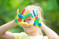 Gelukkige handen Stock Foto
