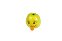 Gelukkige het glimlachen smiley uit de appel Gevoel, houdingen stock foto's