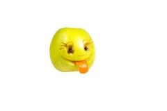 Gelukkige het glimlachen smiley uit de appel Gevoel, houdingen stock fotografie