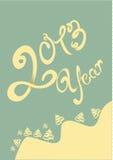 Gelukkige het jaarillustratie van 2013 vector illustratie