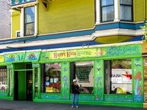 Gelukkige Hoge Kruiden Ashbury, SF Stock Fotografie
