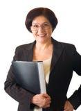Gelukkige hogere geïsoleerdet vrouw, Royalty-vrije Stock Foto