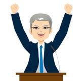 Gelukkige Hogere Politicus Man Stock Afbeeldingen