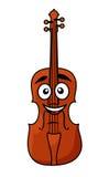 Gelukkige houten viool met een grote glimlach vector illustratie