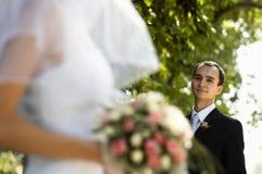 Gelukkige huwelijksdag stock foto's