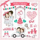 Gelukkige huwelijkskaart royalty-vrije illustratie