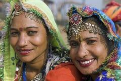 Gelukkige Indische Dansers Stock Foto