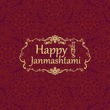 Gelukkige janmashtami, Indisch feest van de geboorte van Krishna Greetin Royalty-vrije Stock Afbeelding