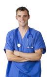Gelukkige jonge arts Stock Afbeeldingen