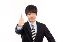 Gelukkige jonge Aziatische bedrijfsmens Stock Foto's