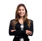 Gelukkige jonge bedrijfsvrouw Stock Afbeeldingen