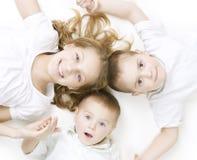Gelukkige Jonge geitjes Royalty-vrije Stock Afbeeldingen