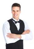 Gelukkige Jonge Kelner Royalty-vrije Stock Afbeeldingen