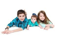 Gelukkige jonge kinderen royalty-vrije stock afbeelding