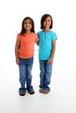 Gelukkige Jonge Meisjes stock foto
