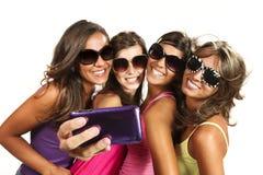 Gelukkige jonge meisjes Royalty-vrije Stock Fotografie