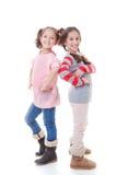 Gelukkige jonge meisjes stock foto's