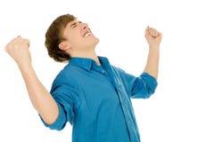 Gelukkige jonge mens Stock Foto