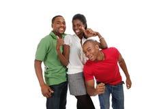 Gelukkige jonge mensen Stock Afbeelding