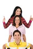 Gelukkige jonge mensen Stock Foto's