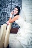 Jonge mooie bruid Royalty-vrije Stock Foto's