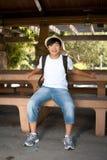 Gelukkige jonge tiener Royalty-vrije Stock Foto's