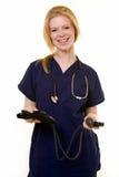 Gelukkige jonge verpleegster Royalty-vrije Stock Foto