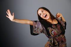 Gelukkige jonge vrouw. Royalty-vrije Stock Afbeeldingen