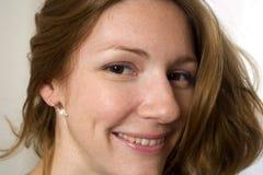 Gelukkige jonge vrouw Royalty-vrije Stock Fotografie