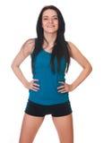 Gelukkige Jonge woman do sport oefeningen. royalty-vrije stock foto