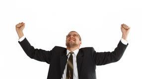 Gelukkige jonge zakenman Stock Foto