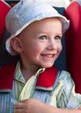 Gelukkige jongen in een spanningsverhoger royalty-vrije stock foto's