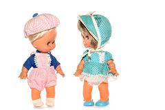 Gelukkige jongen en meisjespop Stock Afbeeldingen