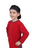 Gelukkige jongen in honkbal GLB stock afbeelding