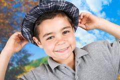 Gelukkige jongen met hoed Royalty-vrije Stock Fotografie