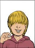 Gelukkige Jongen met Ontbrekende Tand Royalty-vrije Stock Afbeelding