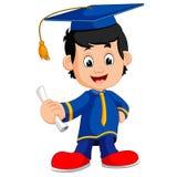 Gelukkige jongen na graduatie royalty-vrije illustratie