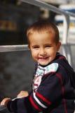 Gelukkige jongen op de boot Royalty-vrije Stock Foto's