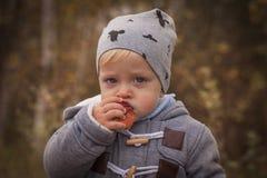 Gelukkige jongen openlucht Stock Foto's