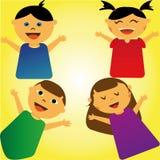 gelukkige jongens en meisjes vector illustratie