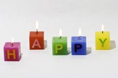 Gelukkige Kaarsen Stock Afbeelding