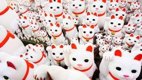 Gelukkige katten bij gotokuji-Tempel Stock Afbeelding