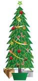 Gelukkige Kerstboom Stock Afbeeldingen