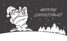 Gelukkige Kerstman Stock Afbeeldingen