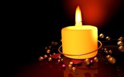 Gelukkige Kerstmis candel Stock Foto's