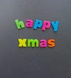 Gelukkige Kerstmis; eenvoudig bericht. Stock Foto's